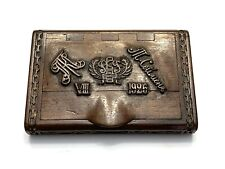 New listing Antique 1920s Russian Civil War White Army Carved Wood Cigarette Case Box