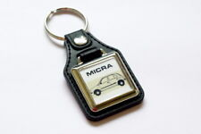 Nissan Micra K11 Keyring - Leatherette & Chrome Japanese Retro Car Keyfob