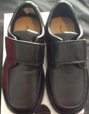 Hush Puppies Zander Boys Little Kid Toddler Black Hook Loop Classy Shoes Sz 10 W