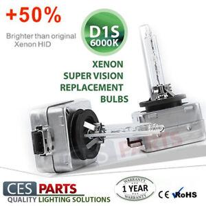 2x D1S Bulbs White Bright Xenon 6000K Low Beam Headlights Citroen DS4 2011-2015