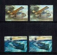 AUSTRALIA 2014 MILITARY AVIATION & SUBMARINES..4 STAMPS USED.P/S & SHEET STAMPS