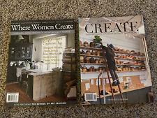 Where Women Create Nov/Dec/Jan 2014 & June/July 2018 Magazines