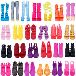 10 Pairs  Fashion Shoes Boots Sandals Accessories Clothes For Monster High Doll