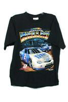 Rusty Walllace VTG 90s Chase Authentics Miller Lite Black T Shirt Mens Sz L