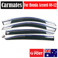 Weather Shield Visor For Honda Accord 08-12 4 Doors double sided tape Clips AU