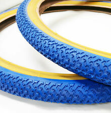 Old School BMX Freestyle Tyres KENDA in Pairs of 2 Blue