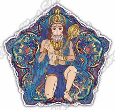 "Lord Hanuman Happy Dussehra India Mandala Car Bumper Vinyl Sticker Decal 4.6"""