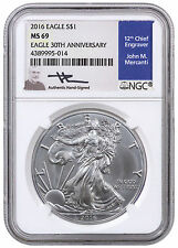 2016 American Silver Eagle NGC MS69 (Mercanti Signed Label) SKU40913