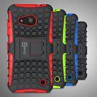 For Microsoft Lumia 550 Case Hard & Soft Protective Kickstand Back Phone Cover