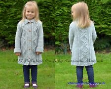 Knitting Pattern-Diamond Dust Coat (neonati, bambini e adolescenti dimensioni)