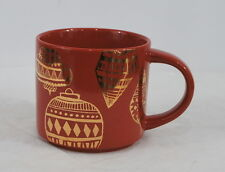 Starbucks Red Gold Mug Christmas Ornaments or Chinese Lanterns 2015 14 oz
