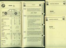 BMW 5er Serie DAT Unterlagen Ersatzteile Ausstattung Preisliste 1980