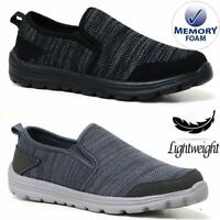 Mens Casual Slip On Lightweight Memory Foam Walking Deck Boat Driving Shoes Size