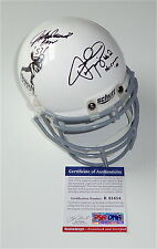 JOHNNY MANZIEL & JOHN DAVID CROW SIGNED TEXAS A&M HEISMAN MINI HELMET PSA R83454