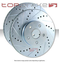 FRONT Drill Slot Brake Rotors POSI QUIET Ceramic Pads for A4 /& Quattro 96-01