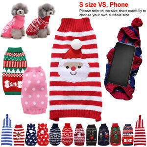Lovely Small Pet Dog Cat Sweater Hoodie Coat Puppy Xmas Costume Apparel Jumpers