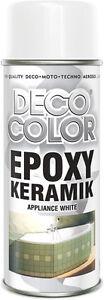 DECOCOLOR EPOXY BATH SHOWER SINK APPLIANCE WHITE ENAMEL SPRAY PAINT REFURBISHING