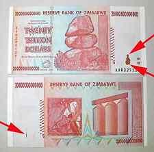 UNIQUE PRINT ERROR! ZIMBABWE 20 TRILLION DOLLARS 2008 [PICK # 89] UNC. x 1