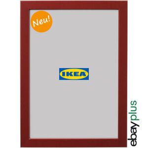 IKEA FISKBO Bilderrahmen 21 x 30 cm dunkelrot A4 Fotorahmen Foto Rahmen NEU