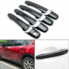 Carbon Fiber Style Door Handle Deco Cover Trim For Mazda 2 3 5 6 CX7 CX9 RX8 MKZ