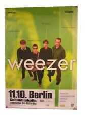 Weezer Poster Concert Berlin Band Shot Green