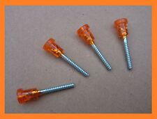 Fiat 126 Lights Plastic Orange Head Short Screw - Set of 4 (four)