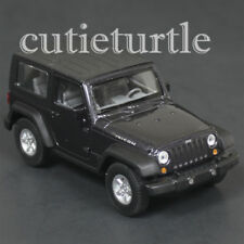 "4.5"" Welly Jeep Wrangler Rubicon Top Up Diecast Toy 42371H-D Dark Grey Metallic"