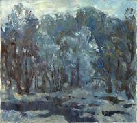 "Russischer Impressionist Öl Leinwand ""Frühling"" 50x45 cm"