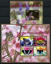 Bhutan 2015 Schmetterlinge Butterflies Mariposa Papillons 2792-95 Block 529 MNH