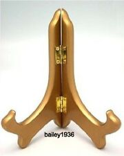 "5""  EASEL GOLD Wood Small DISPLAY Plate Stand Tripar 23-1205B HIGH QUALITY"