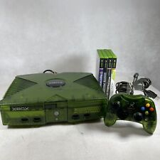 MICROSOFT ORIGINAL XBOX LIMITED EDITION GREEN CRYSTAL CONSOLE 1 CONTROLLER