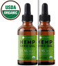 USDA ORGANIC PURE Hemp Oil for Pain Relief, Stress, Sleep 2x500mg (1000 mg)