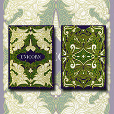 Brand New Playing Cards - Unicorn Playing cards (Emerald)by Aloy Design Studio