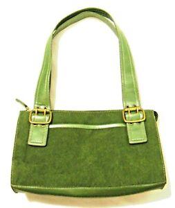 Green Suede Shoulder Handbag Faux Leather 7x12 Relic Brand