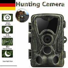 20MP JagdKamera Wildkamera Fotofalle Spiel Trail 1080P HD IP65 Nachtsicht 0.3S