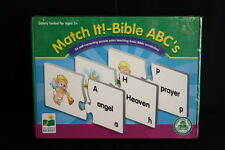 The Learning Journey Match It Bible ABC's Self Correcting Puzzle Vocabulary