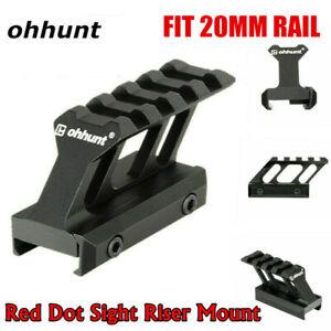 ohhunt 1pc 4 Slots Red Dot Sight Riser Mount Base Rail Fit 20mm Picatinny Rail