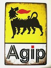 Targa agip service gasoline stampa metallo vintage retrò pub bar poster arredo
