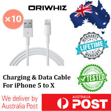 10 X USB Data Lightning Cable Cord Charger for iPhone 5 6 6S 6Plus 7 iPad 4 Mini