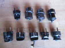 9 Stück - Stecker der 50er Jahre - Bakelit  - Röhrenradio / Kofferradio