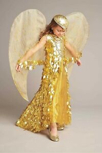 Gold Phoenix Costume Fashion Dress Child Girls SIZE 8 (M)