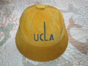 Vintage UCLA University California, Los Angeles Frederick's Gold Newsboy Cap Hat