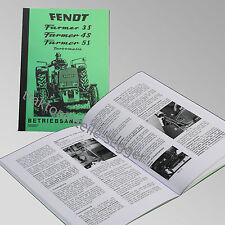 Fendt Betriebsanleitung  Farmer 3S 4S 5S Traktor Schlepper 500007