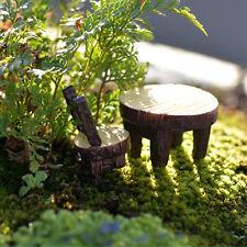 Cute Fairy Garden Resin Mini Table & Chair Garden Ornament Mini Garden Decor New