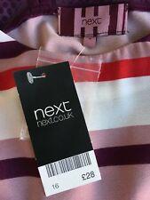 NEXT BNWT, UK size 16 dress, short sleeves, horizontal stripe print,