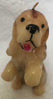 """Vtg Dog Cocker Spaniel Wax Candle 4&1/2""""x2"""" Never Used Preowned"""
