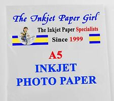 A5 210x148mm 130g Professional High Glossy Photo Inkjet Paper 30 sheets