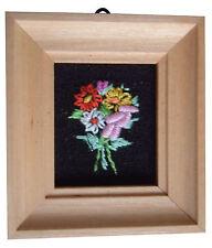 Casa De Muñecas Hecho a mano en miniatura de los años ochenta Bordado Luz Foto marco Flor Mix3