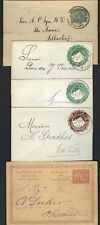 EGYPT 1880-90s 3 POSTAL COVERS DOMESTIC USE & 1 WRAPPER ALEXANDRIA TO SCOTLAND &
