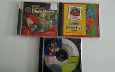 Set of 3 Carmen San Diego Series Edutainment Learning Games PC Windows Mac